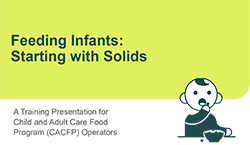 Feeding Infants: Starting with Solids