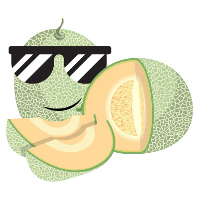 Summer Cantaloupe Recipes Graphic